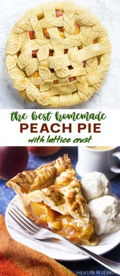 My homemade peach pie is an old fashioned treat filled with fresh peaches, brown sugar, and bourbon for the best flavor! The juicy filling is topped with a lattice crust for a dessert which is both delicious and beautiful. Perfect for holidays like Thanksgiving and Christmas! | justalittlebitofbacon.com #pierecipes #dessertrecipes #thanksgiving #holidays #summerrecipes #peaches Fruit Recipes, Whole Food Recipes, Dessert Recipes, Desserts, Summer Grilling Recipes, Summer Recipes, Fresh Peach Pie, Peach Pie Filling, Farmers Market Recipes