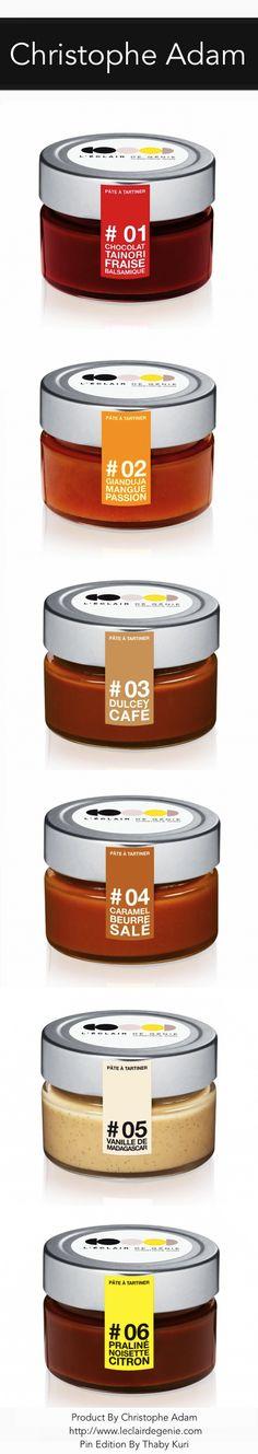 Pates Collection By Christophe Adam Honey Packaging, Cool Packaging, Candle Packaging, Chocolate Packaging, Bottle Packaging, Brand Packaging, Packaging Design, Christophe Adam, Jam Label