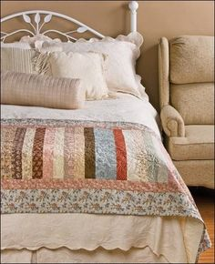 Bed Runners Using Precut Fabrics - Quilting Patterns...pattern cost $6.79. Lots of other patterns for sale on this site.