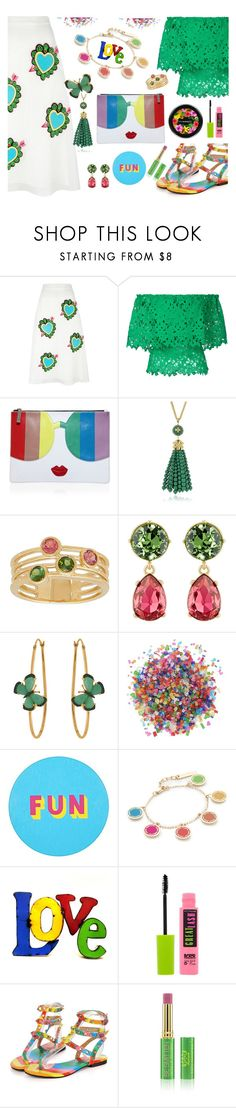 """""""Summer time fun"""" by ellenfischerbeauty ❤ liked on Polyvore featuring House of Holland, Bambah, Alice + Olivia, Tory Burch, Lord & Taylor, Kenneth Jay Lane, Christina Debs, Dress My Cupcake, Lisa Perry and Marc Jacobs"""