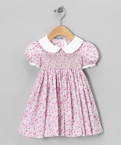 Purple & White French Floral Dress - Infant, Toddler & Girls
