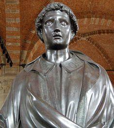 Lorenzo Ghiberti, Santo Stefano, 1427-28, particolare, Museo di Orsanmichele, Firenze
