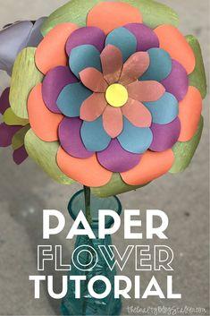 You can make beautiful paper flowers at home using the We R Memory Keepers Flower Punch Board. Create beautiful paper bouquets and home decor! How To Make Paper Flowers, Large Paper Flowers, Tissue Paper Flowers, Diy Flowers, Tissue Paper Crafts, Diy Paper, Paper Crafting, Flower Punch Board, Popular Crafts