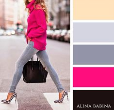 Combinación gris+rosa