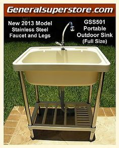 Portable sinkprep table the bbq brethren forums fused gss501 portable outdoor sink garden camp camping rv kitchen remodel must have workwithnaturefo