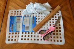 *rag rug from a dollar store sink mat (or tie two or more together to make a larger rug!) For Julia to make rugs for her doll house. Diy Projects To Try, Crafts To Do, Home Crafts, Craft Projects, Sewing Projects, Arts And Crafts, Craft Ideas, Fabric Crafts, Sewing Crafts