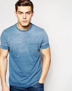 Image 1 ofPull&Bear T-Shirt in Lightwash