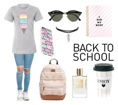 """Untitled #13"" by massamisso on Polyvore featuring Pusheen, Rip Curl and Ray-Ban"