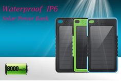 8000mAh Solar Power Bank waterproof IP6 External solar charger powerbank for mobile phone for outdoor  #Fish #tackle #lure #apparel #au #Gonefishing #fishingboat #fishingtrends #fishingtrip #@fishingtrends
