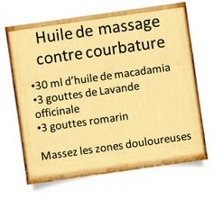 huile massage courbature musculaire Stopper une courbature musculaire avec les huiles essentielles