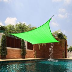 The Square Sail Sun Shade Is Made From UV Stabilized Fabric Which Prevents  It From Warping And Discoloring. Itu0027s Ample Size Provides Enough Shade For  ...