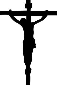 Cristo crucificado Silhouette