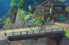 Background painting and concept art taken from Kokuriko-zaka kara | From Up on Poppy Hill, 2011, which yesterday saw it's US-dubbed pr...