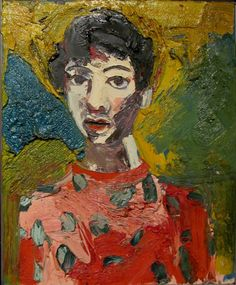"ymutate: "" Joan Brown Portrait of Lupe, 1964. Oil on canvas. Gift of Noel Neri. (1938-1990)  """