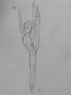 Gymnastic girl sketch. By Yenthe Joline.