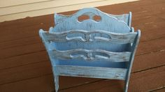 Vintage Wooden Magazine Rack / Up-cycled  by moldyoldies on Etsy