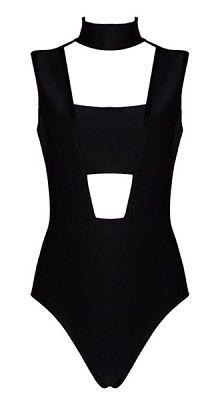 Dja Black Bandage Bodysuit