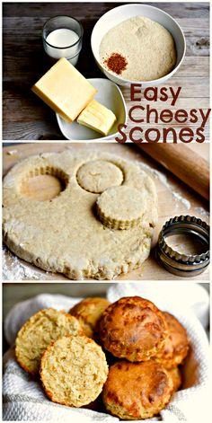 Easy Peasy Cheesy Scones! // #Cheesy #Scones #Easy #Recipe