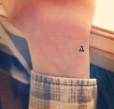 http://tattooideas247.com/tiny-delta-wrist-tattoo/ Tiny Delta Wrist Tattoo #BlackInk, #DeltaTattoo, #GreekAlphabetTattoo, #GreekTattoos, #Small, #Tiny, #Wrist