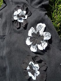 I made this flower t-shirt using a plain black t-shirt and a black and a white top that I was going to get rid off anyway. It was such ...