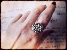 Yorkshire Rose Ring. Tudor Rose Button Wire Wrapped Ring in Your Size. £15.00, via Etsy.