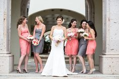 Not those specific colors but cute idea to do every other dress color!