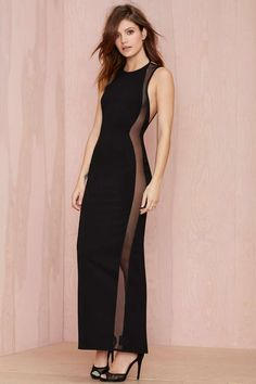 Nasty Gal Lira Mesh Censored Dress | Shop Going Out at Nasty Gal