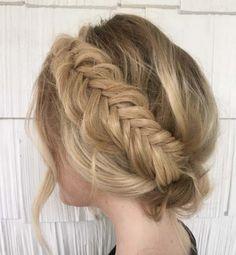 fishtail halo braid