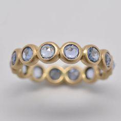 Bezel set sapphire ring