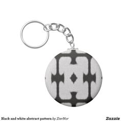 Black and white abstract pattern basic round button keychain Cube Pattern, Round Button, Black And White Abstract, Abstract Pattern, Buttons, Collections, Plugs