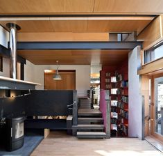 Secret hatches, moving walls and a sliding ladder all feature inside the Edinburgh home of architect Richard Murphy, which has been named RIBA House of the Year 2016.