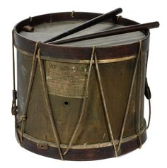 Civil War Drum Belonging to John Brown Holloway 148th regt. Pennsylvania Infantry Sold with his Civil War Diary.