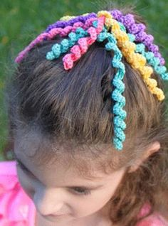 Crochet Curly Q Hair Ties : Hair Ties Diy, Diy Hair Bands For Girls, Elastic Hair Ties, Diy Crafts ...