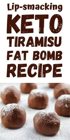 How do you satisfy your sweet cravings even if you are on a keto diet? Our answer: Tiramisu Fat Bombs! It is a perfect treat that you can munch on whenever you feel like you need an increased energy level in your body. A keto-friendly dessert, which is hi Keto Desert Recipes, Sweet Recipes, Keto Recipes, Snack Recipes, Ketogenic Recipes, Kitchen Recipes, Breakfast Recipes, Dessert Recipes, Healthy Recipes