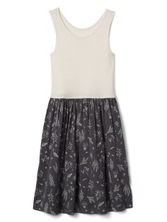 6e652bc2a122 Gap Girls Tank Mix-Fabric Dress - XXL Tank Girl
