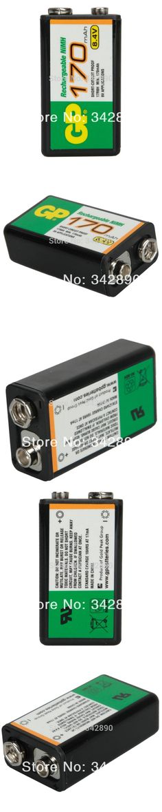 GP 9V 170mAh High Power Rechargeable Ni-MH Battery Black  Freeshipping