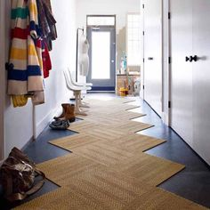 By flor entry rug, hallway rug, upstairs hallway, tiled hallway, hallway . Best Carpet, Diy Carpet, Rugs On Carpet, Wall Carpet, Stair Carpet, Carpet Tiles Cheap, Plush Carpet, Bedroom Carpet, Modern Carpet