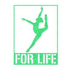 For Life Dancer Leap Iron On Decal by GirlsLoveGlitter on Etsy