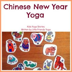 Please meet our guest author, Ellywho shares a Chinese New Year& Yoga Class. As a young dancer, Elly fell in love with high school yoga after fin. ,Chinese New Year& Yoga, Chinese New Year Activities, Chinese New Year Crafts, New Years Activities, Gross Motor Activities, Preschool Activities, Preschool Music, Preschool Projects, New Year's Crafts, Crafts For Kids