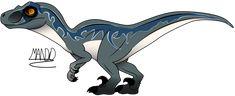 Velociraptor Blue by rainbowarmas on DeviantArt Blue Jurassic World, Jurassic World Fallen Kingdom, Dinosaur Drawing, Dinosaur Art, Prehistoric Creatures, Mythical Creatures, Raptor Dinosaur, Blue Drawings, Michael Crichton