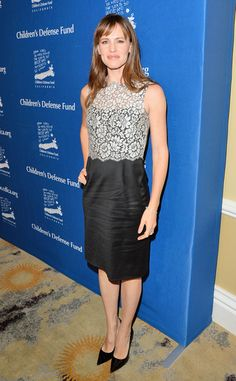 Lacy Lady from Jennifer Garner's Best Looks  Jen wore a black Valentino dress with white lace overlay at the 23rd Annual Beat The Odds Awards in Beverly Hills.