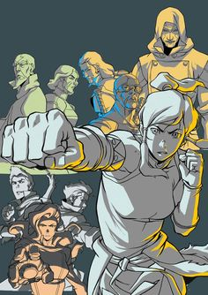 Awesome dvd cover art for The Legend of Korra, by Ryu Ki-Hyun, Supervising Producer at Nickelodeon yes. yes. i need.