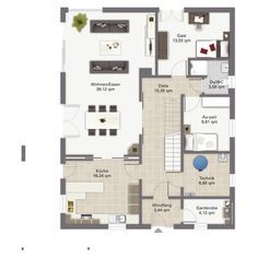Massivhaus Kern-Haus Stadtvilla Centro Grundriss Erdgeschoss ...