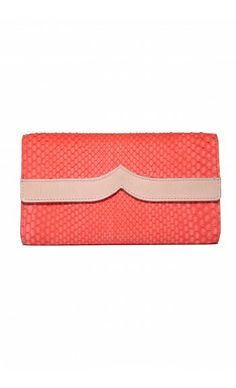 Shop coral and beige Rivoli Wallet by CORION PARIS at  MyBeautifulDressing.com 840e1153c0e