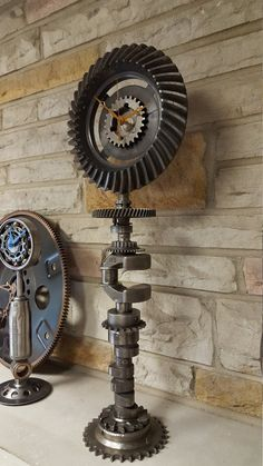 This clock made almost solely of gears.