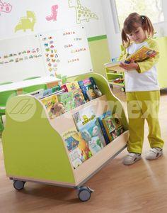 Mueble expositor de libros para bibliotecas infantiles
