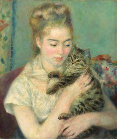Девушка с кошкой. 1875. Национальная галерея искусств в Вашингтоне