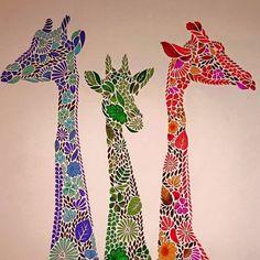 coloring ideas-giraffes