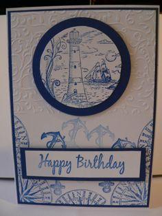 Kanban Cards, Men's Cards, Seaside, Card Ideas, Happy Birthday, Stamp, Facebook, Crafts, Inspiration