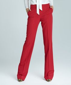 Look at this NIFE Red Trouser Pants on today! I Love Fashion, Fashion Pants, Fashion Beauty, Autumn Fashion, Fashion Outfits, Red Trousers, Trouser Pants, Pajama Pants, Business Chic